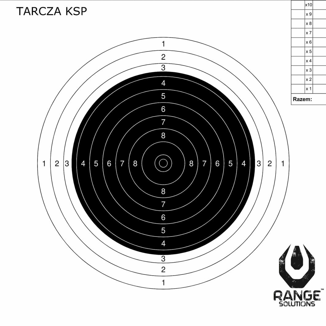 Range Solutions KSP targets, air rifle 200mm by 200mm target with black centre
