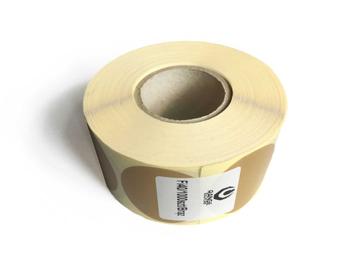 Range Solutions Brown Patches, 40mm wide , 1000 pieces roll