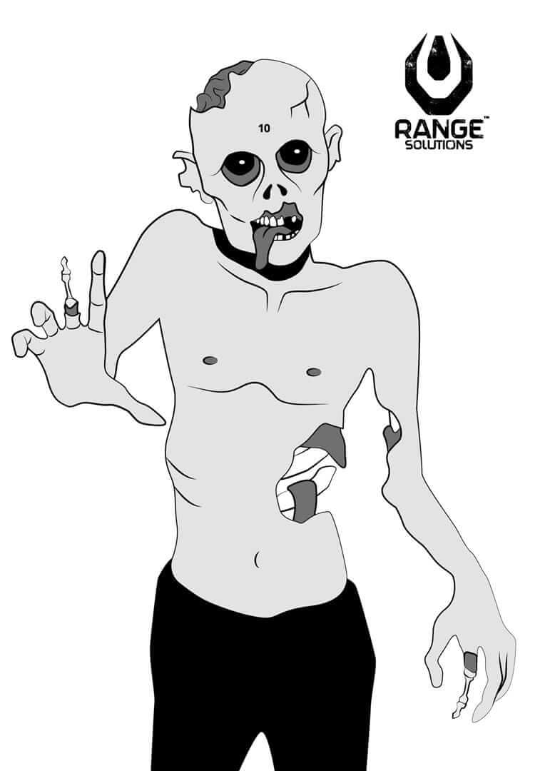 Range Solutions ZOMBIE targets, target with zombie looking figure