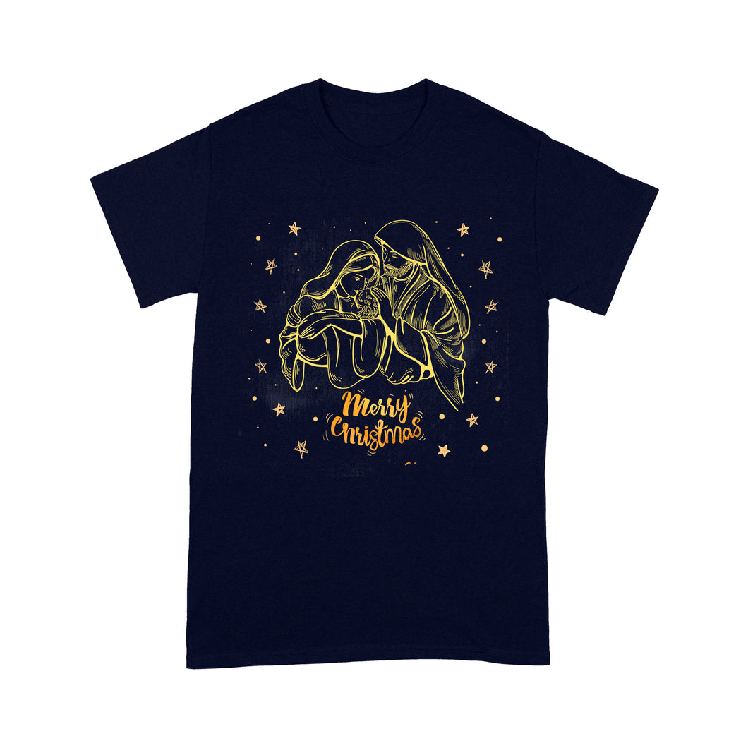Nativity scene Gold drawlines- Standard T-shirt