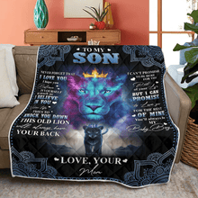 Load image into Gallery viewer, ''To My Son Lion'' Fleece Blanket/Mother's Day Gift