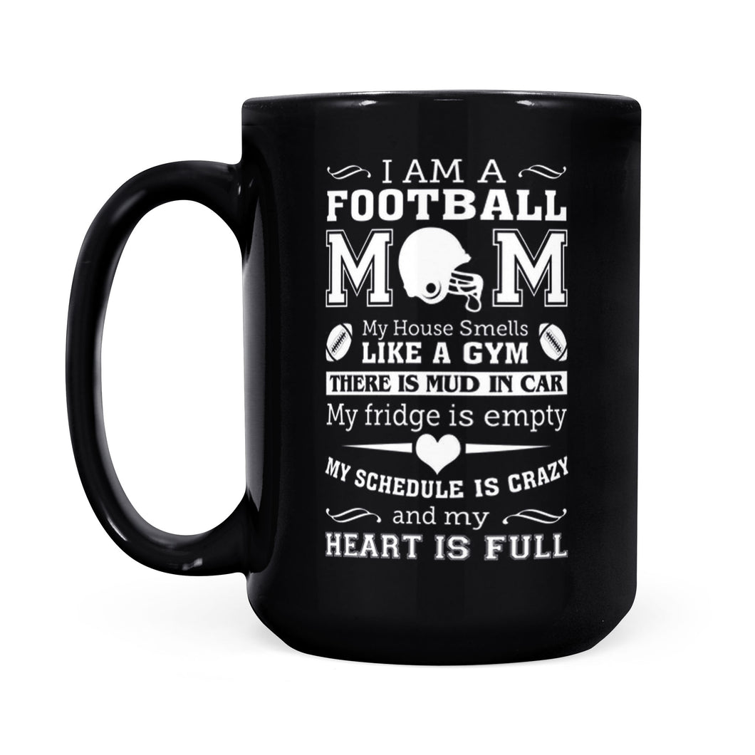 Football Mom - Black Mug