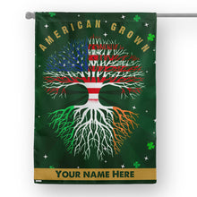 Load image into Gallery viewer, Customize American Grown St Patrick's Day Garden Flag
