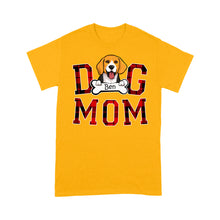Load image into Gallery viewer, Customized/Personalized Buffalo Dog Mom T-Shirt, 2021 Trending Fashion Mother's Day & National Pet Day Tee Shirt