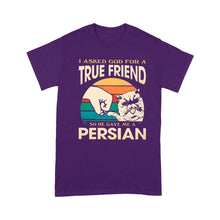 Load image into Gallery viewer, I asked God for a True Friend so he gave me a Persian - Standard T-shirt