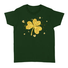 Load image into Gallery viewer, Clover/Shamrock  Women Standard T-shirt, 2021 Trending Saint Patrick's Day Clover Tee Shirt