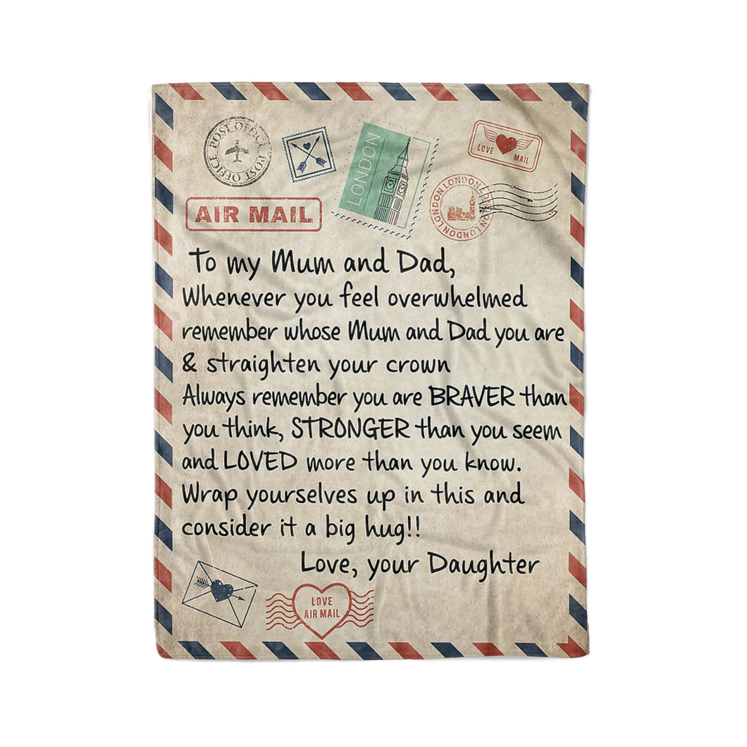 To my Mum and Dad- Fleece Blanket