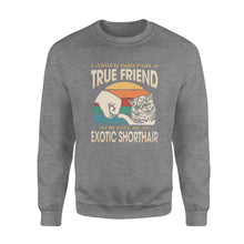 Load image into Gallery viewer, I asked God for a True Friend so he gave me an Exotic Shorthair  - Standard Crew Neck Sweatshirt