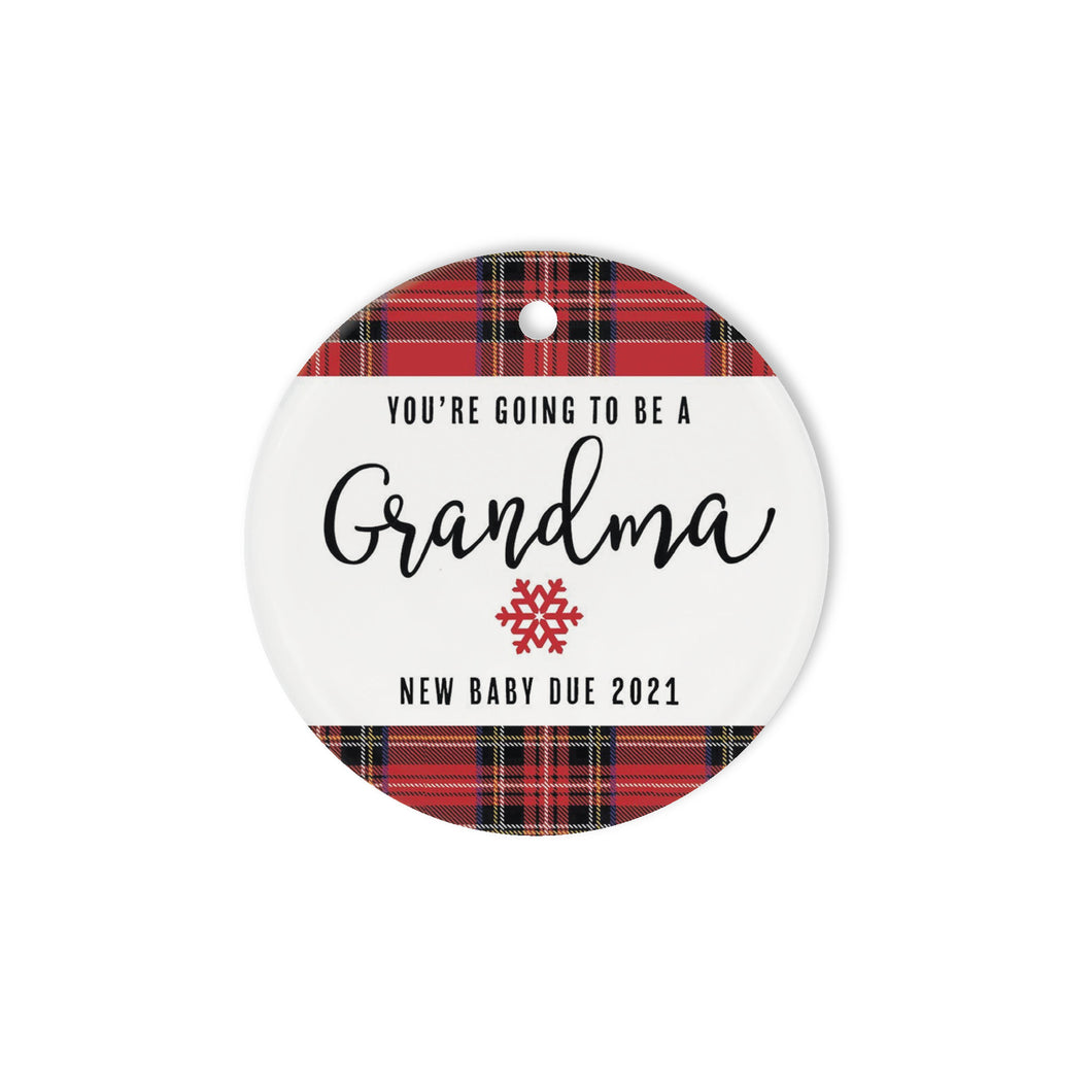 You're going to be Grandma- Circle Ornament (1 sided)