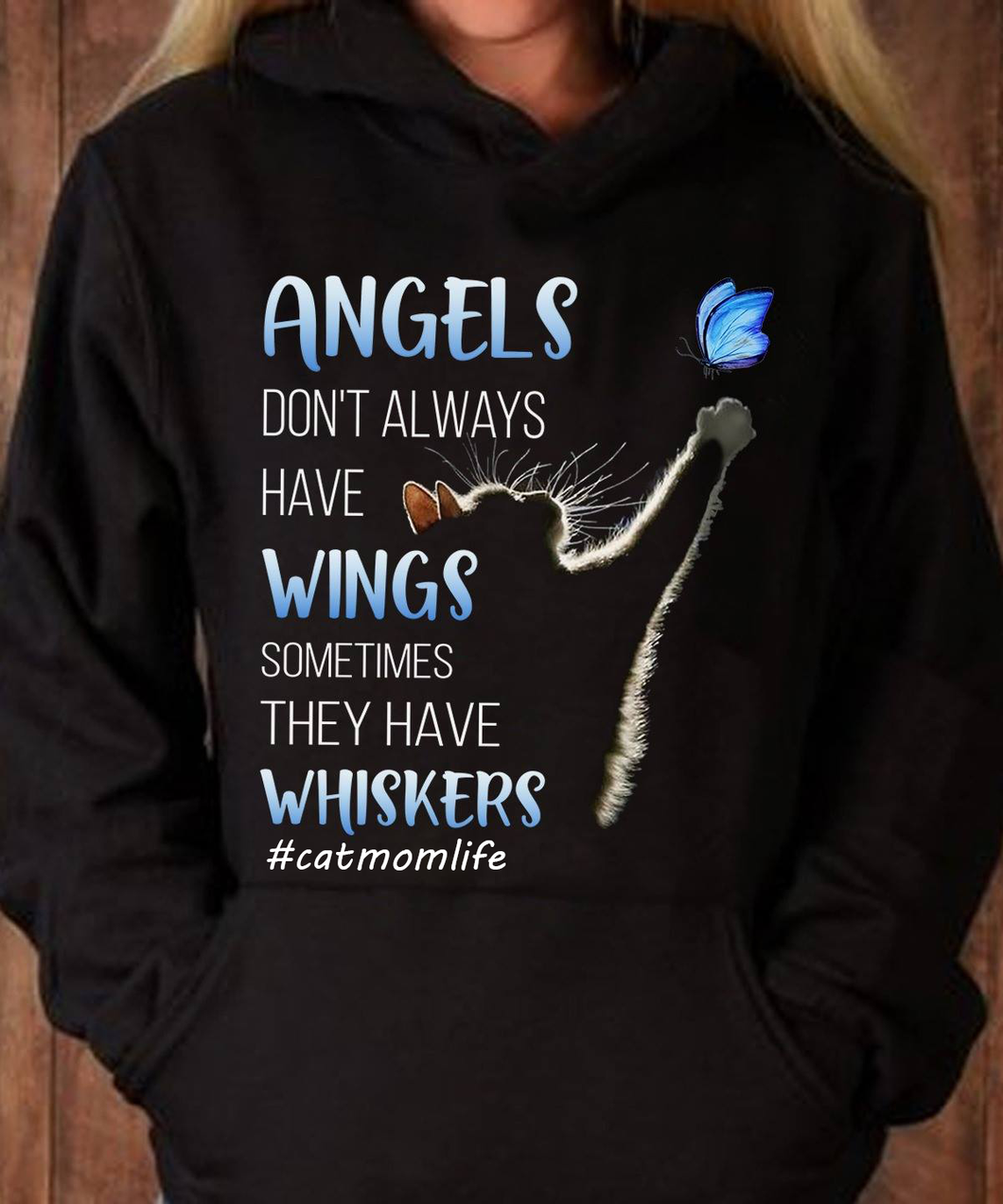 Angels With Whiskers Standard Hoodie, Gifts For Mother's Day