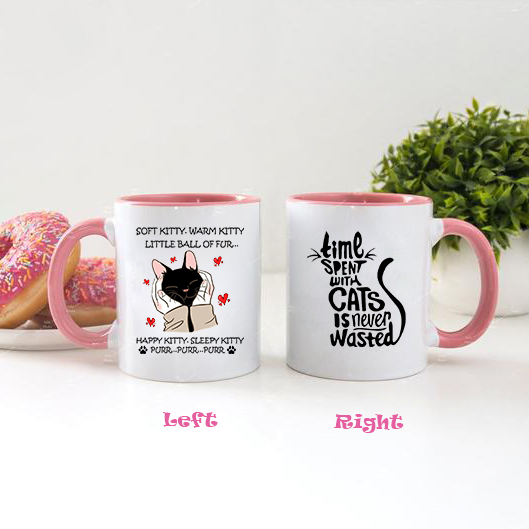 Time Spent With Cats Is Never Wasted Accent Mug, 2021 Trending Mother's Day Accent Mug