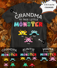 Load image into Gallery viewer, Grandma/Mama/Auntie To This Little Monster Standard Unisex T-shirt, 2021 Trending Fashion Mother's Day Unisex Tee Shirt, Gift For Women