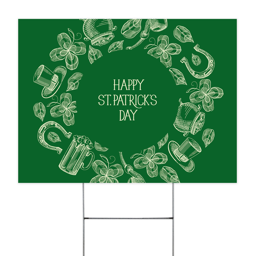 Happy Patrick Day Yard Sign