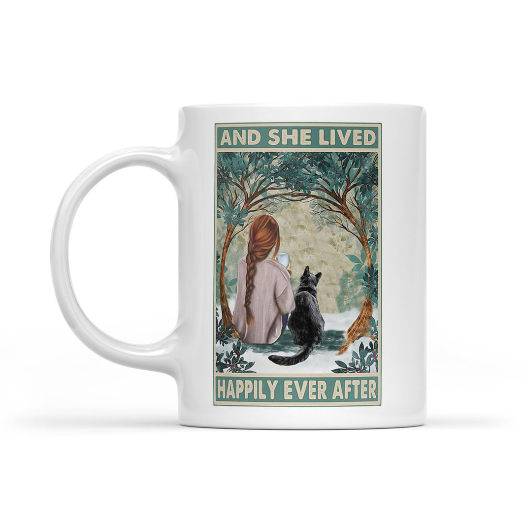 She Lived Happily Ever After - White Mug
