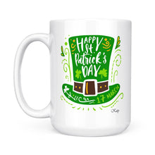Load image into Gallery viewer, Green Hat St. Patrick's Day White Mug, 2021 Trending Saint Patrick's Day Shamrock Coffee Cup