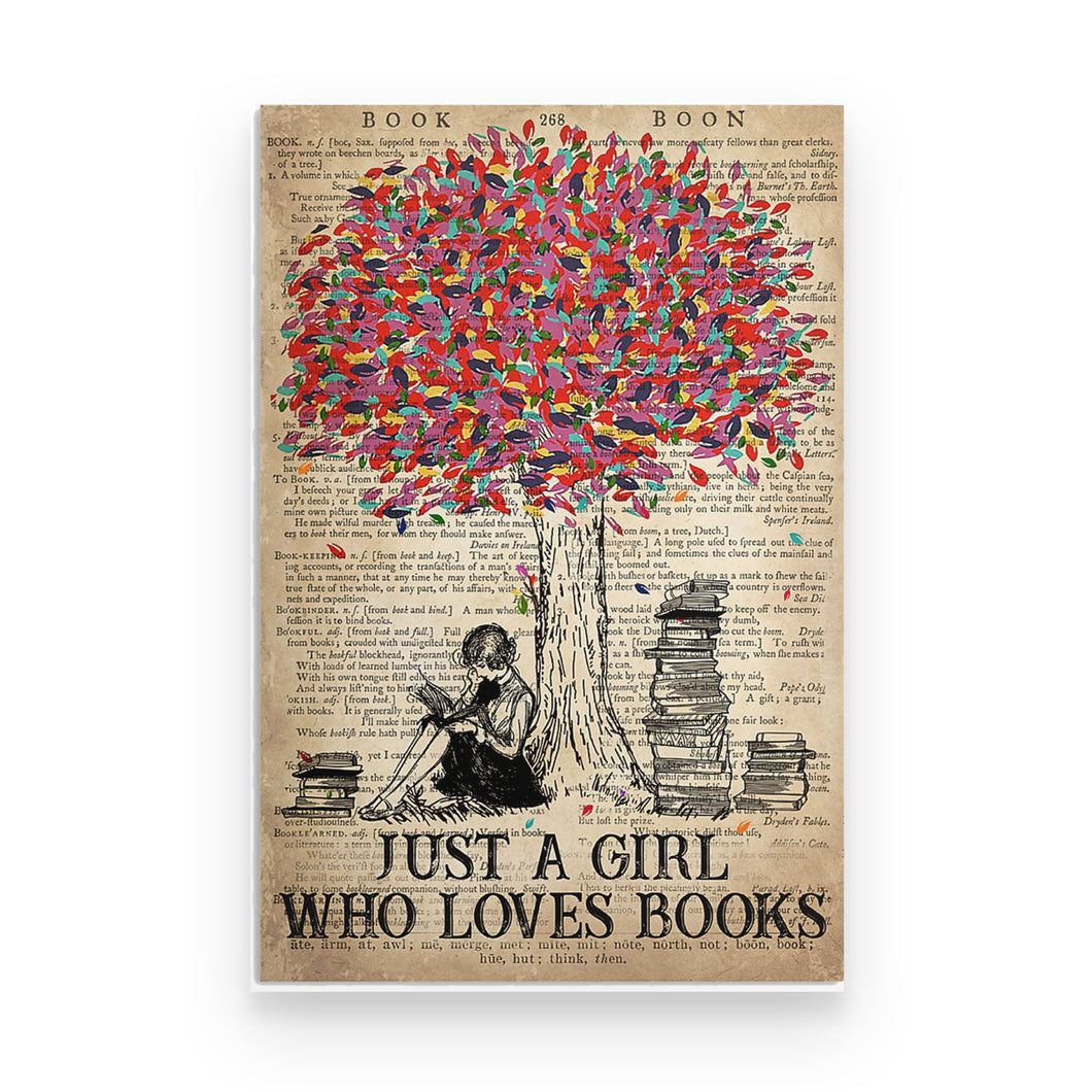 Just A Girl Who Loves Books - Poster