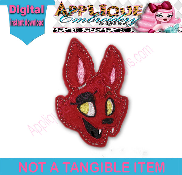 Foxy Felt embroidery machine file ScrumpStitches