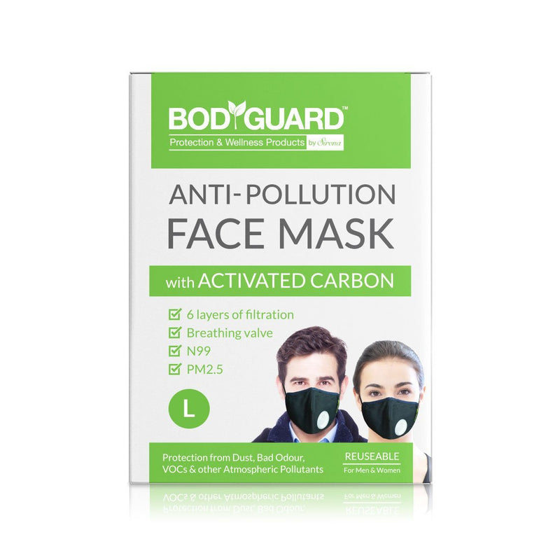 BodyGuard Reusable Anti Pollution Mask, N99 + PM2.5 - Pee Buddy