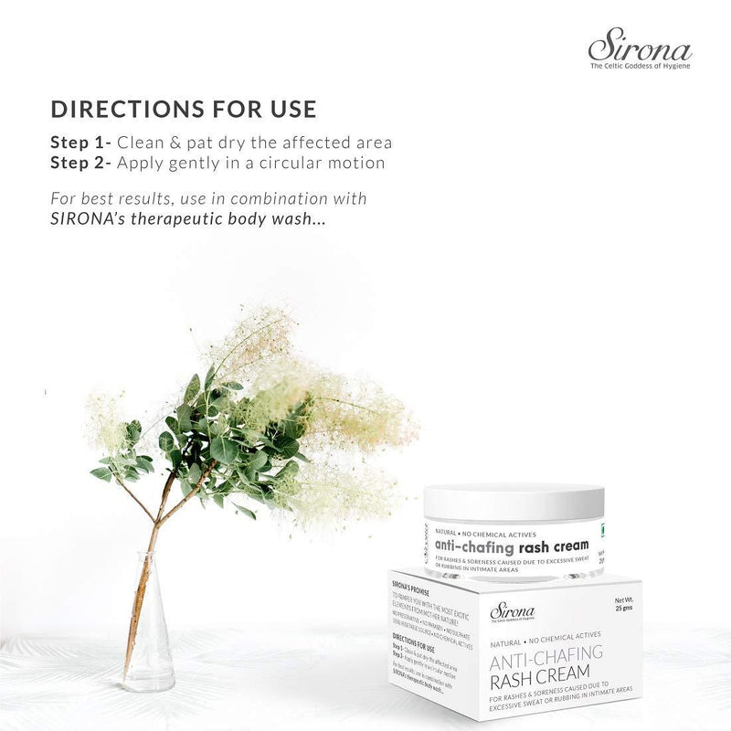 Sirona Anti-Chafing Rash Cream - 25 gm - Pee Buddy