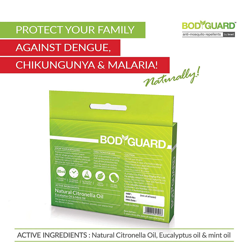 BodyGuard Natural Mosquito Repellent Patches - Pee Buddy