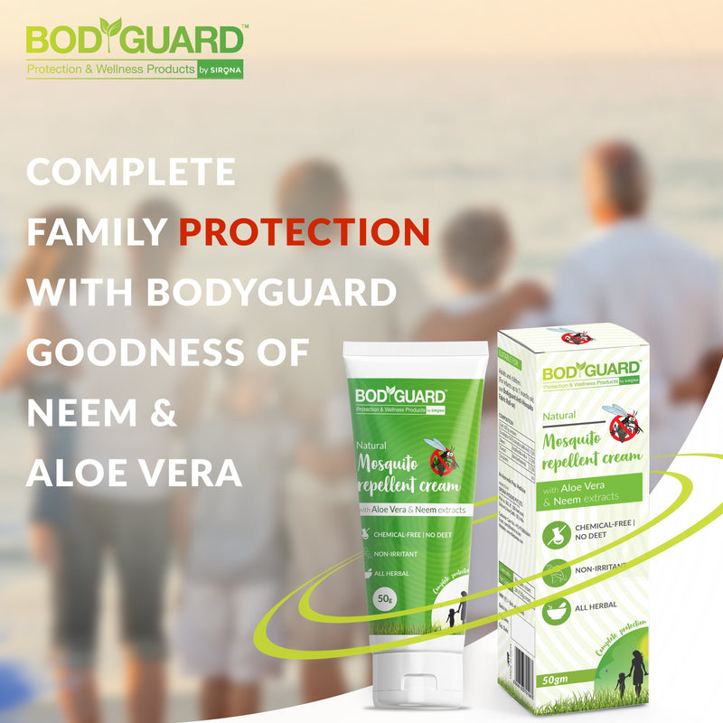 BodyGuard Natural Mosquito Repellent Cream with Aloe Vera and Neem Extracts - Pee Buddy