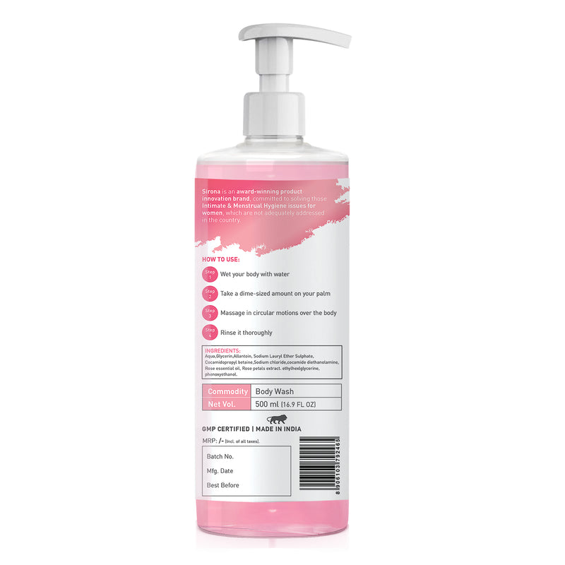 Sirona Body Wash with Hasayan Rose - 500 ml