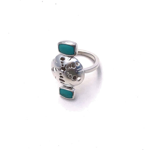 Urchin + Turquoise Ring