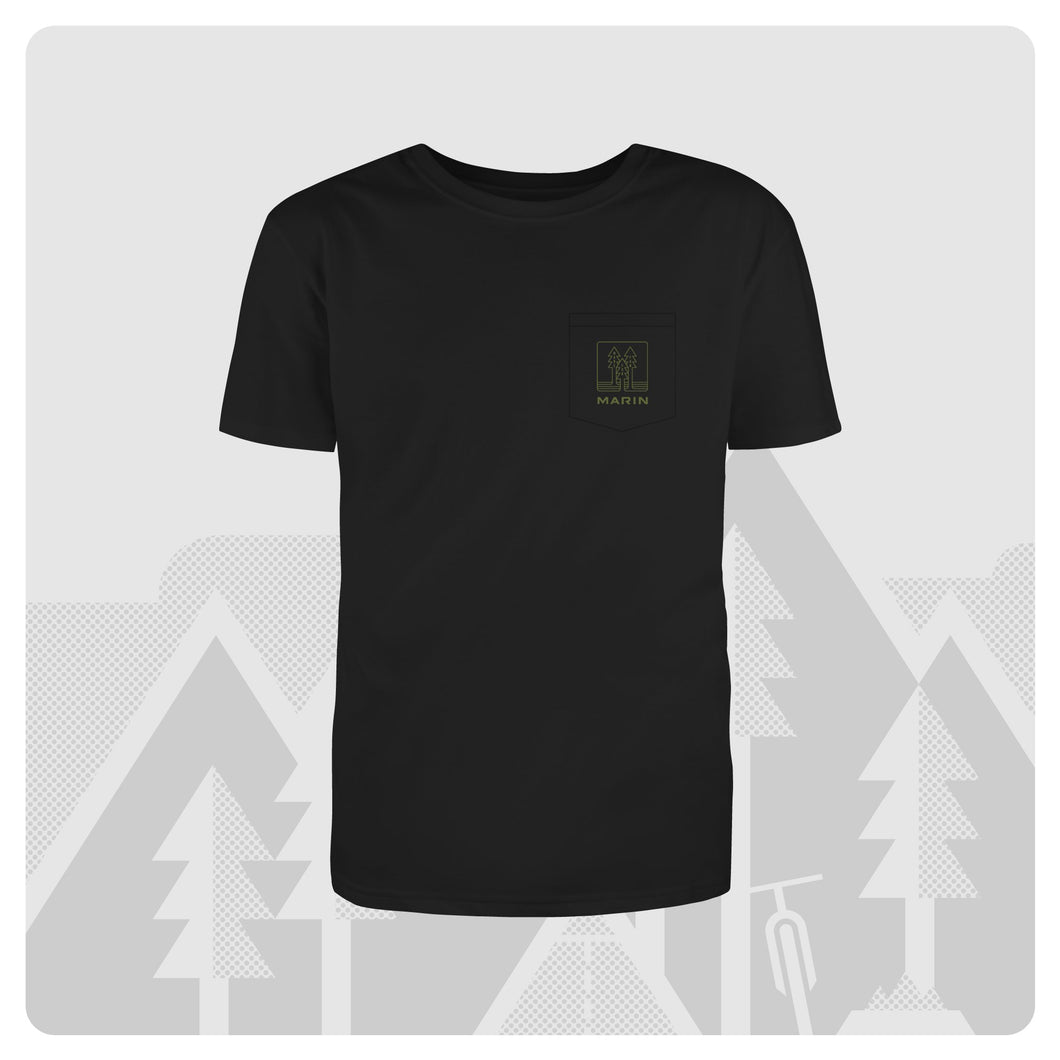 Forest Pocket T - Black
