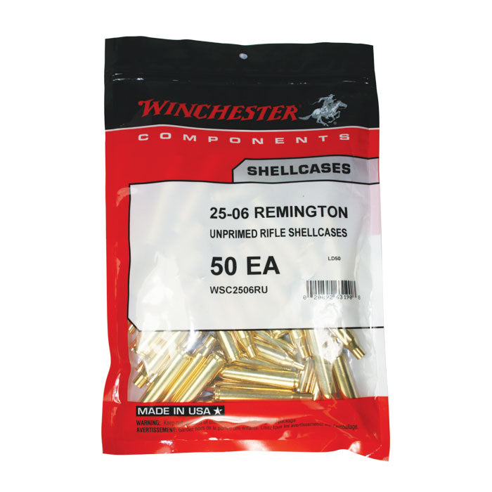 WINCHESTER UNPRIMED BRASS 25-06 REMINGTON 50PK
