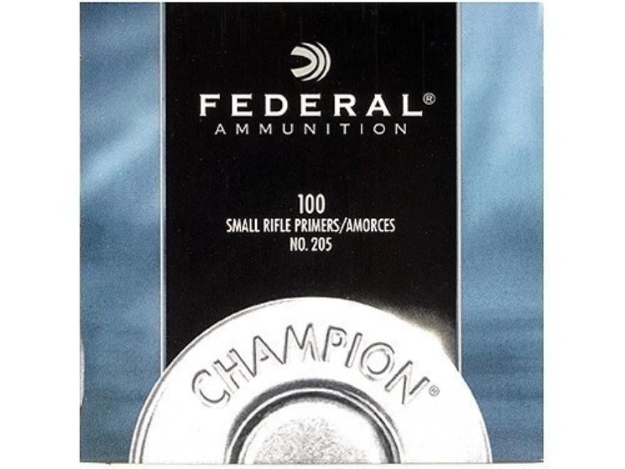 FEDERAL SMALL RIFLE PRIMERS NO.205 100PK