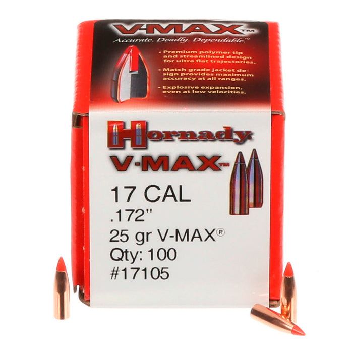 HORNADY PROJECTILE .17 25GR V-MAX 100PK (17105)