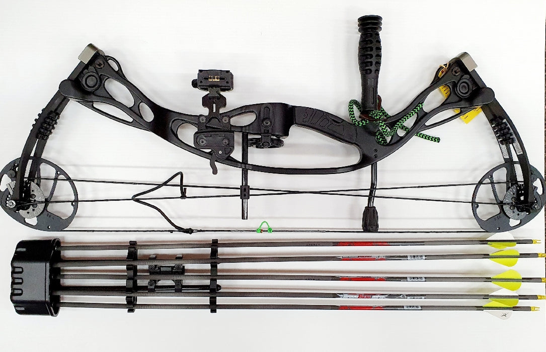 HORIZONE COMPOUND BOW PACKAGE- AIR BOURNE 75LB RH BLACK