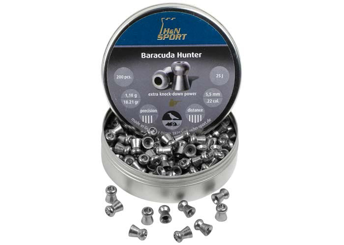H&N AIR PELLET BARACUDA HUNTER .22CAL 200 PK