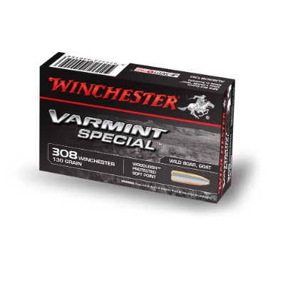 WINCHESTER VARMINT SPECIAL 308WIN 130 GR WOODLEIGH PP 20 PK