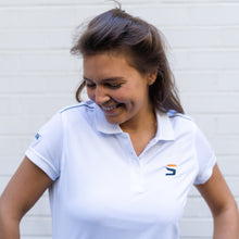 Afbeelding in Gallery-weergave laden, Dames witte Mulligan polo shirt