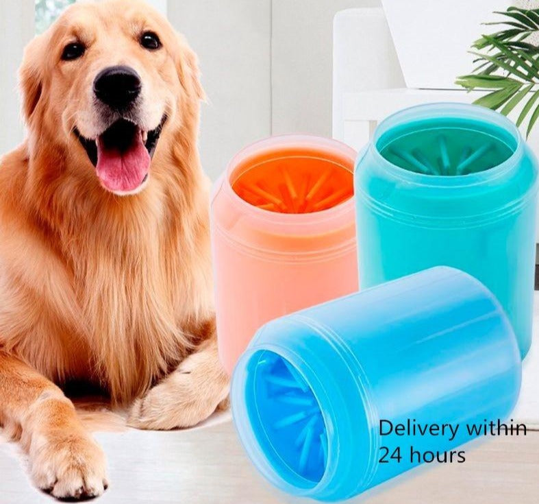 Pet towel Foot Washer Paw Clean Brush Cleaning Bucket