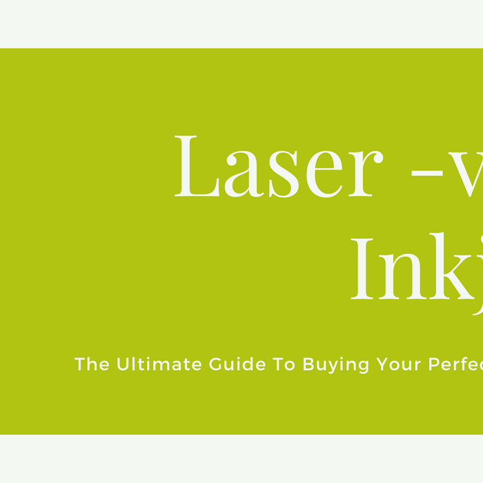 Image that states 'Laser versus inkjet, the ultimate guide to buying your perfect printer'