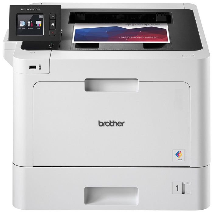 Brother HL-L8360CDW Duplex Wireless Network with Intuitive Touchscreen Colour Laser Printer