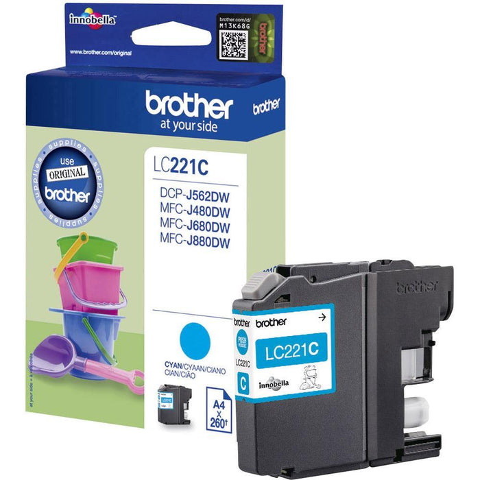Brother LC-221C Original Cyan Ink