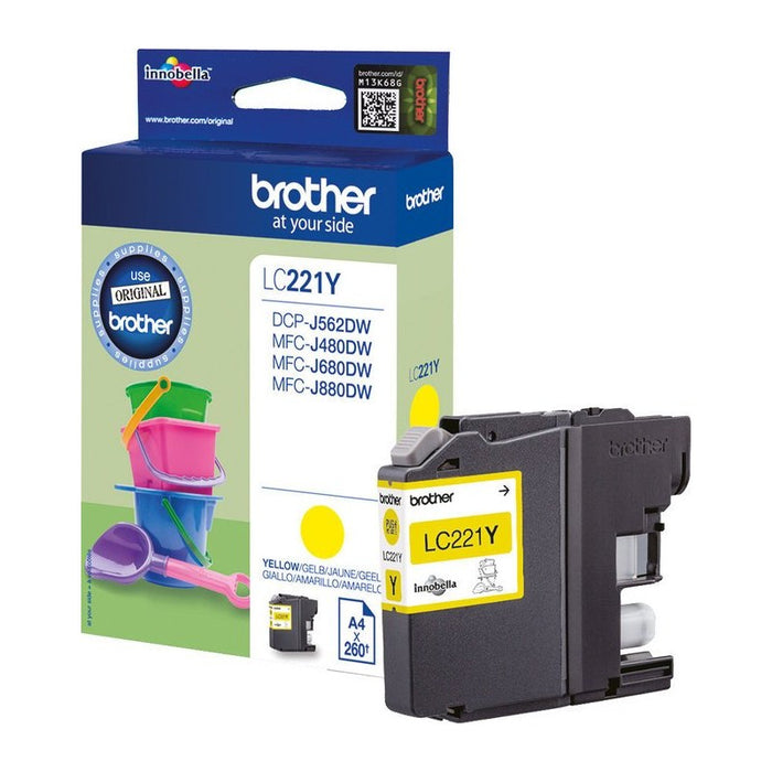 Brother LC-221Y Original Yellow Ink