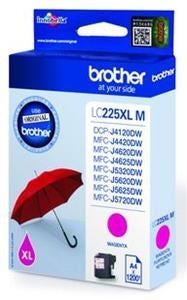 Brother LC-225XLM High Yield Magenta Ink (Original)
