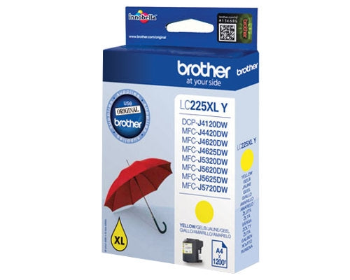 Brother LC-225XLY High Yield Yellow Ink (Original)