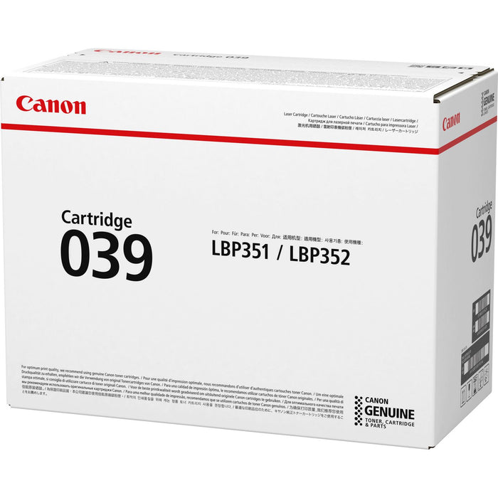 Canon 039 Original Black Toner