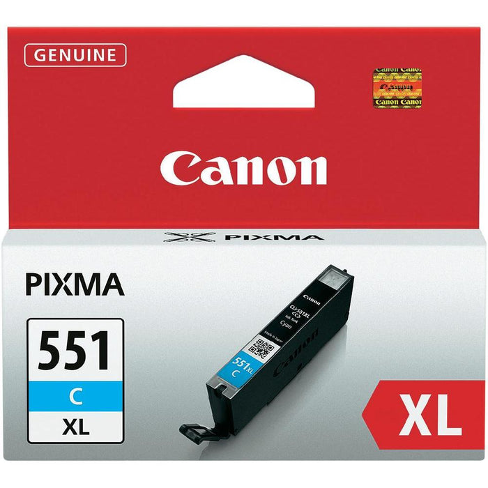 Canon CLI-551C XL High Yield Cyan Ink (Original)