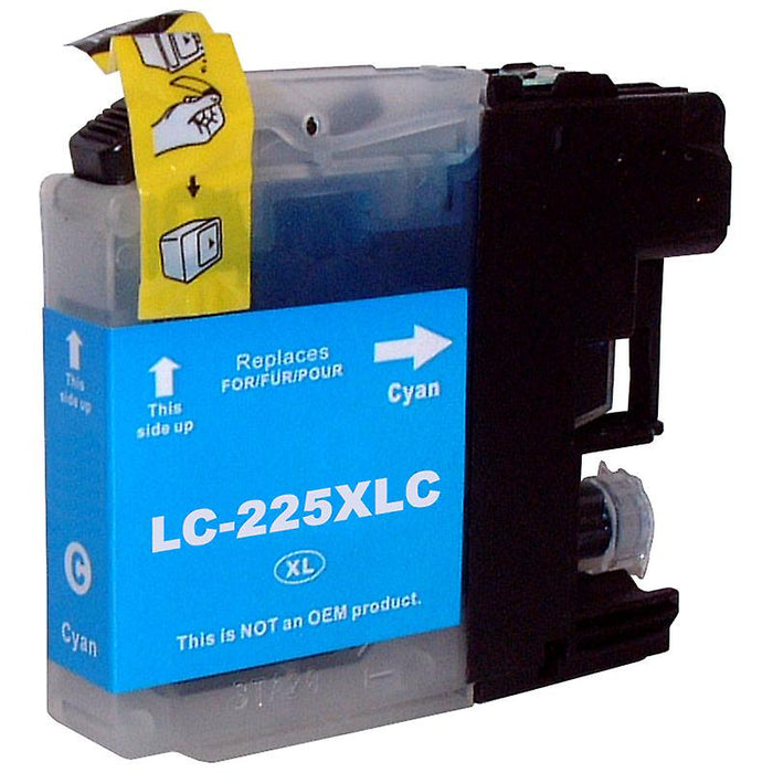 Brother LC-225XLC Cyan Ink (Non OEM Compatible)
