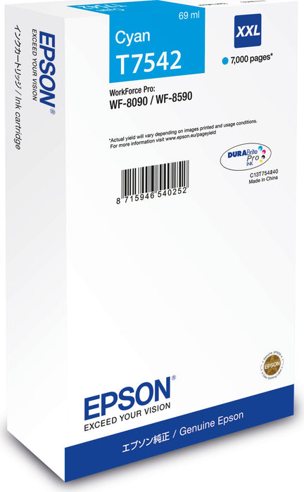 Epson T7542XXL Cyan Ink Cartridge