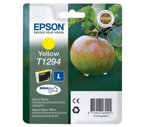 Epson T1294 Original High Yield Yellow Ink Cartridge
