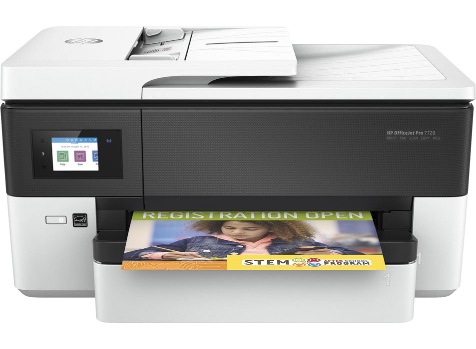 HP Officejet Pro 7720 MFP Multifunction Duplex Wireless Network All-in-One with A4 Copy, Scan, Fax and Print Only A3 Colour Inkjet Printer