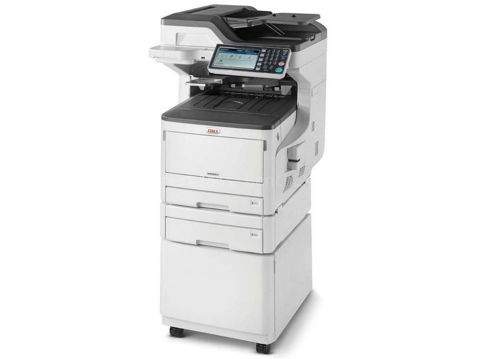 OKI MC873DNCT Multifunction A3 Duplex Network Colour Laser Printer ( Cabinet and Extra Tray)