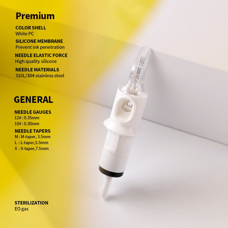 Quelle® Waved Magnum Cartridge Needle / M1